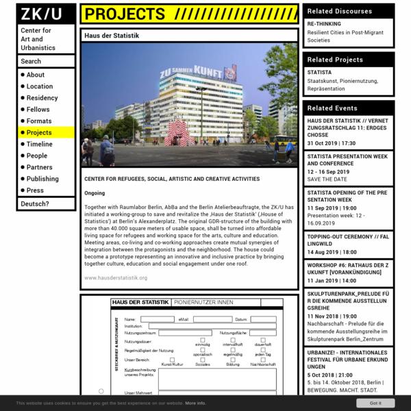 Haus der Statistik - ZK/U Berlin
