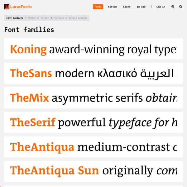 Font Families | LucasFonts