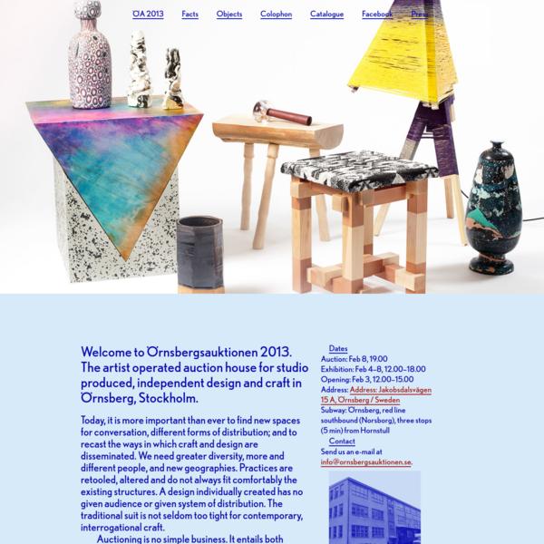 ⬢Örnsbergsauktionen 2013: February 4-8, 12.00-17.00, Örnsberg, Sweden