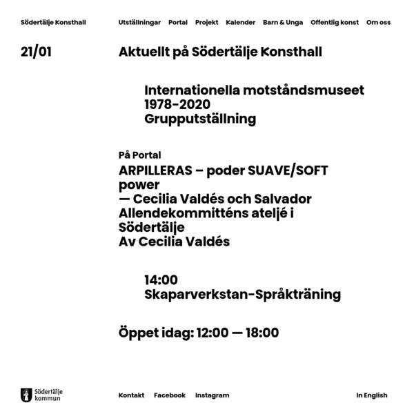 Södertälje Konsthall - Visar den mest angelägna konsten