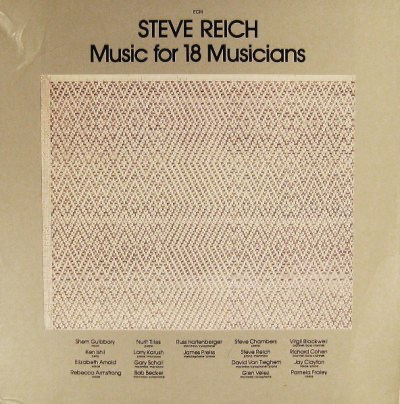 Steve Reich ‎– Music For 18 Musicians (1978)