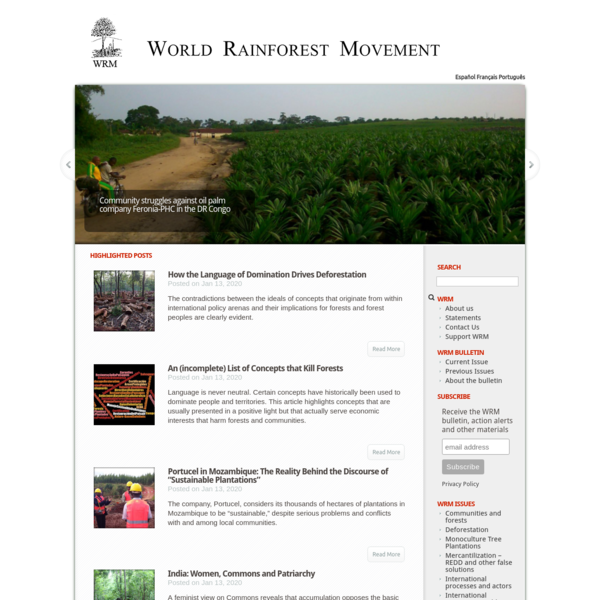 WRM in English | World Rainforest Movement