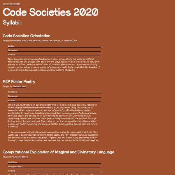 Code Societies 2020