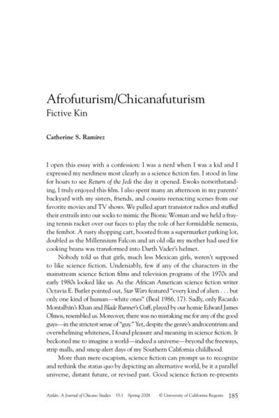 Afrofuturism/Chicanafuturism - Fictive Kin - Catherine S. Ramírez