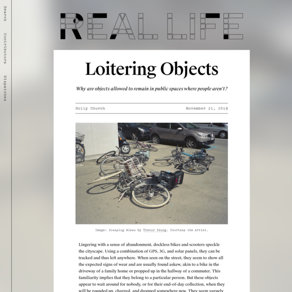 Loitering Objects - Real Life
