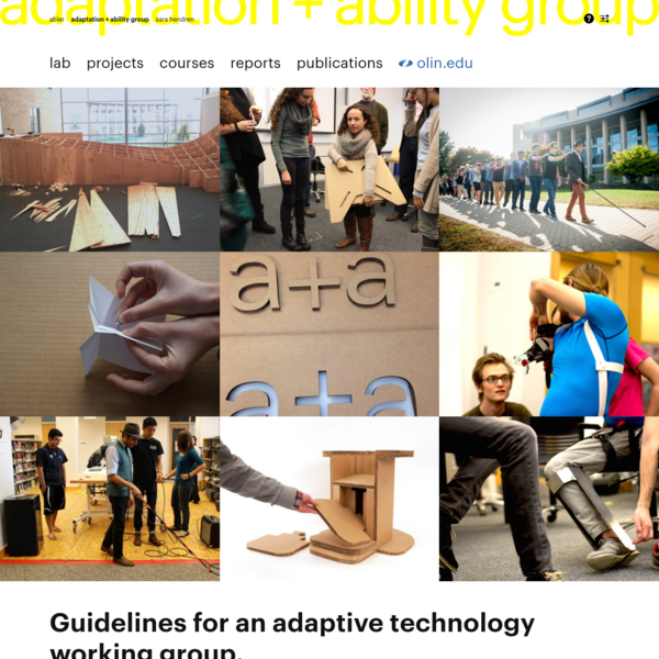 home | adaptation + ability group @ Olin College