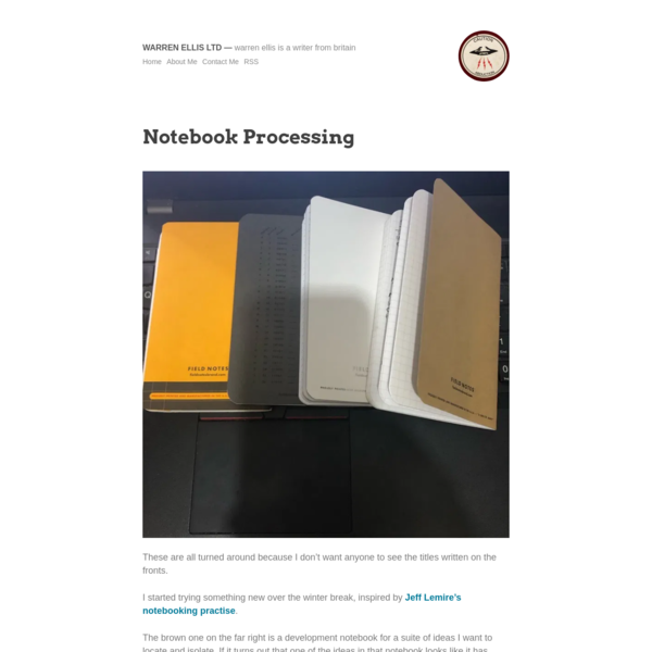 Notebook Processing
