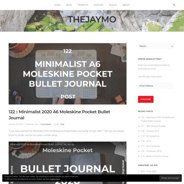 122 :: Minimalist 2020 A6 Moleskine Pocket Bullet Journal - thejaymo