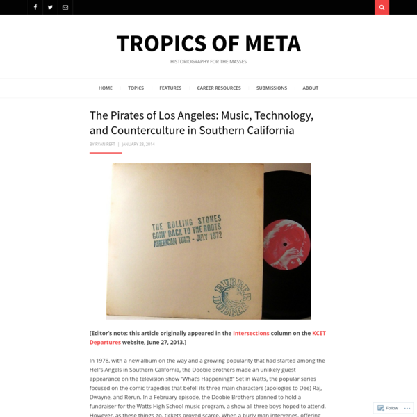 The Pirates of Los Angeles: Music, Technology, and Counterculture in Southern California
