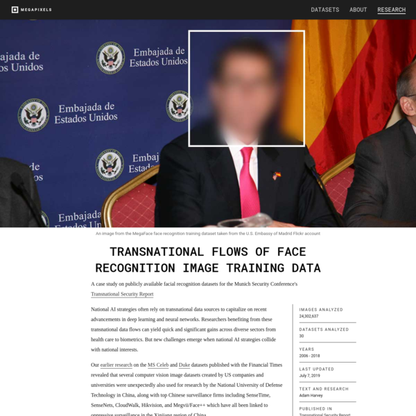 MegaPixels: Transnational Flows of Face Recognition Image Training Data
