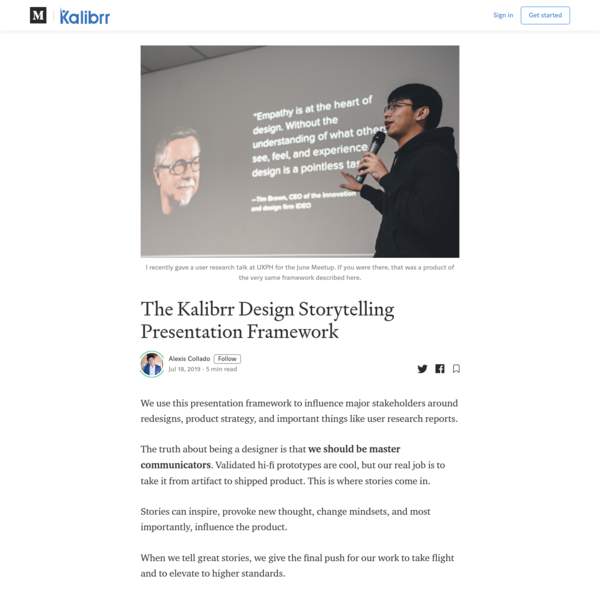 The Kalibrr Design Storytelling Presentation Framework