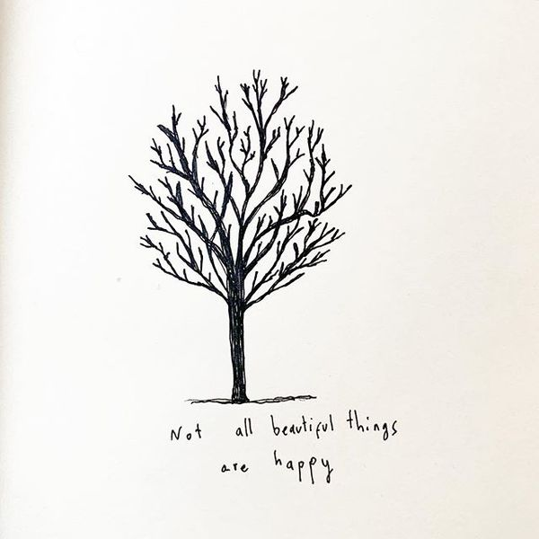 Not all beautiful things are happy ❄️