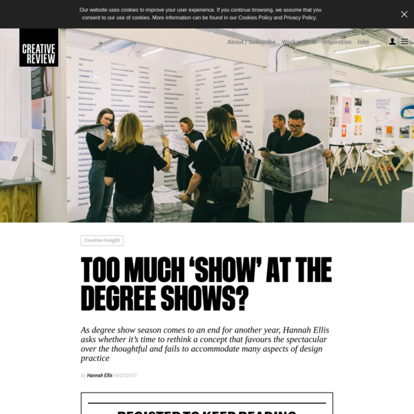 Too much 'show' at the degree shows? - Creative Review