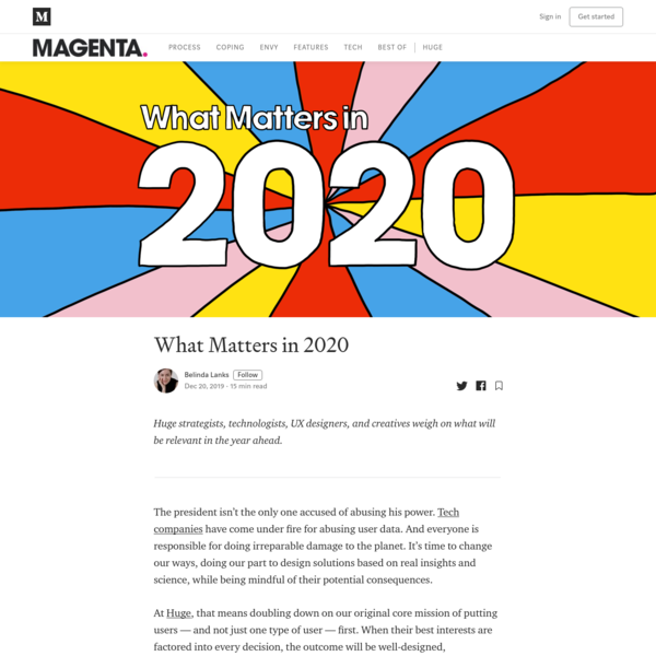 What Matters in 2020