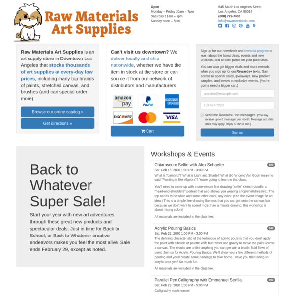 Raw Materials Art Supplies - Downtown Los Angeles
