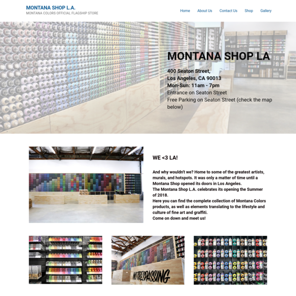 Montana Shop L.A. - Montana Colors Official Flagship Store
