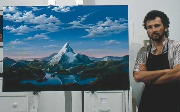 The original Paramount logo, painted in 1965