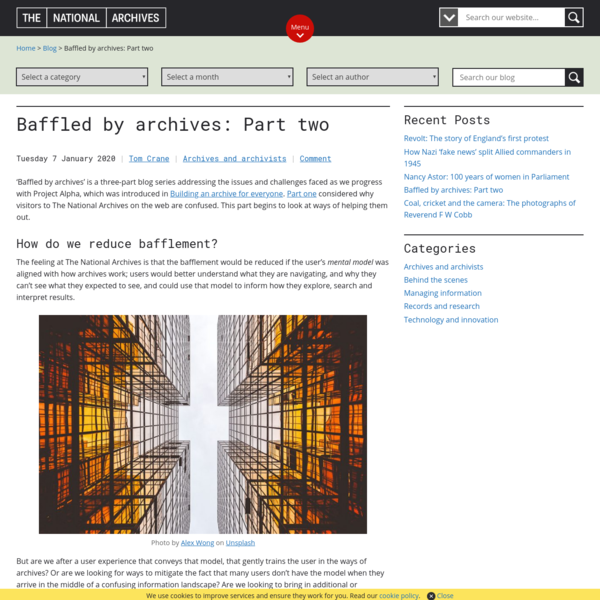 Baffled by archives: Part two - The National Archives blog