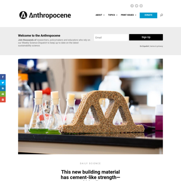This new building material has - Anthropocene