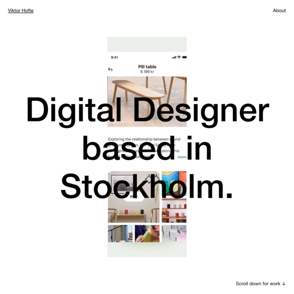 Viktor Hofte - Digital Designer