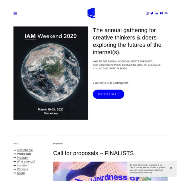 IAM Weekend 2020 - The Weirdness of Interdependencies - IAM
