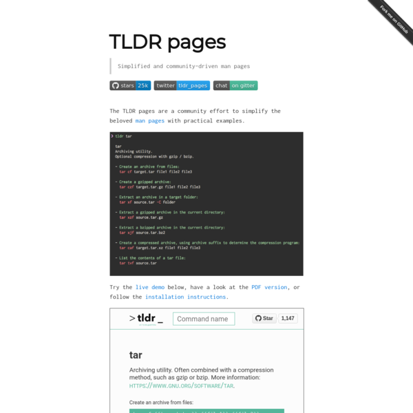 TLDR pages