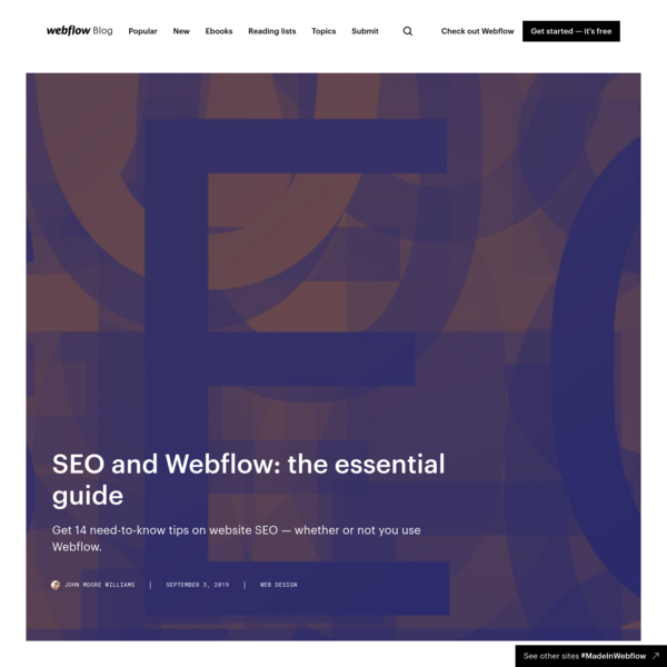 SEO and Webflow: the essential guide | Webflow Blog