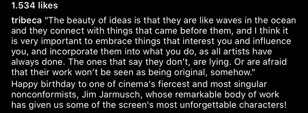 Ideas by Jim Jarmusch