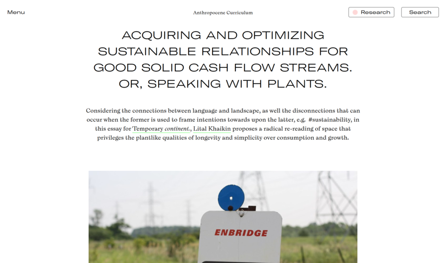 Acquiring and Optimizing Sustainable Relationships for Good Solid Cash Flow Streams. Or, Speaking with Plants.