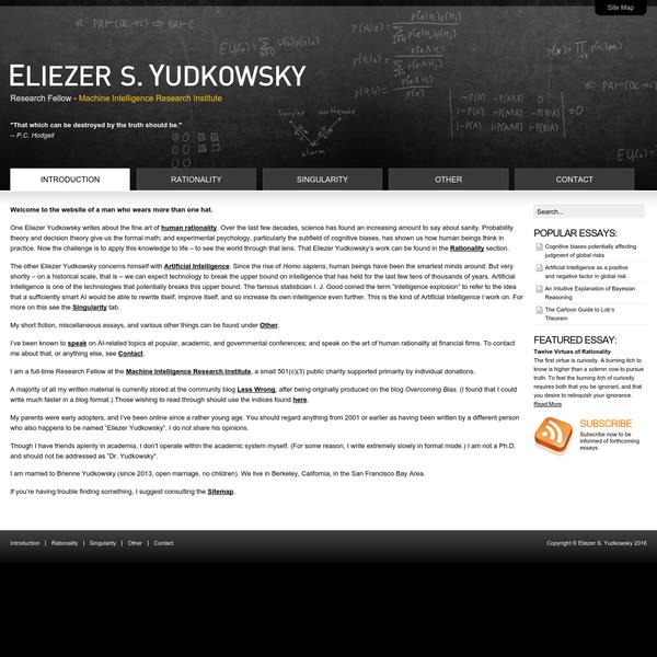 Eliezer S. Yudkowsky