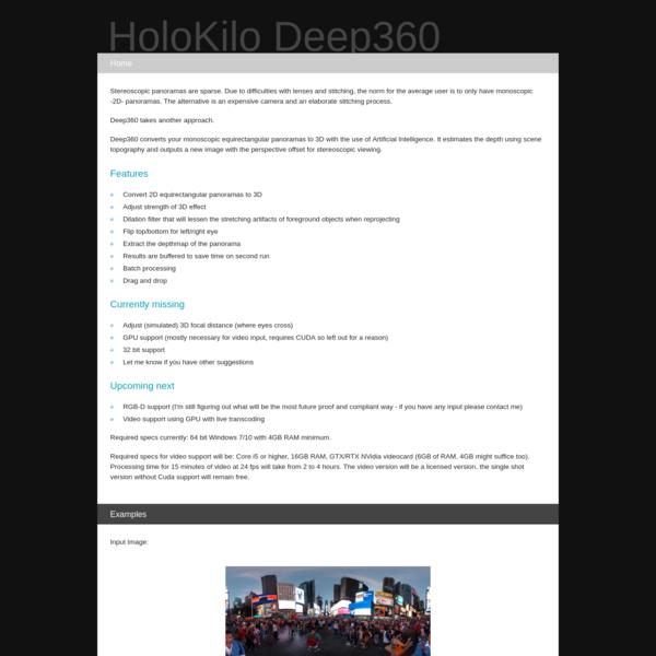 HoloKilo Deep360