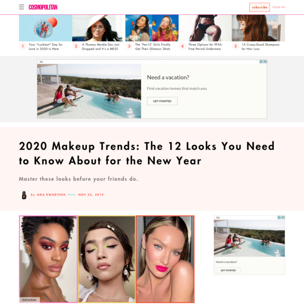 12 Makeup Trends That Are Going to Be Everywhere in 2020