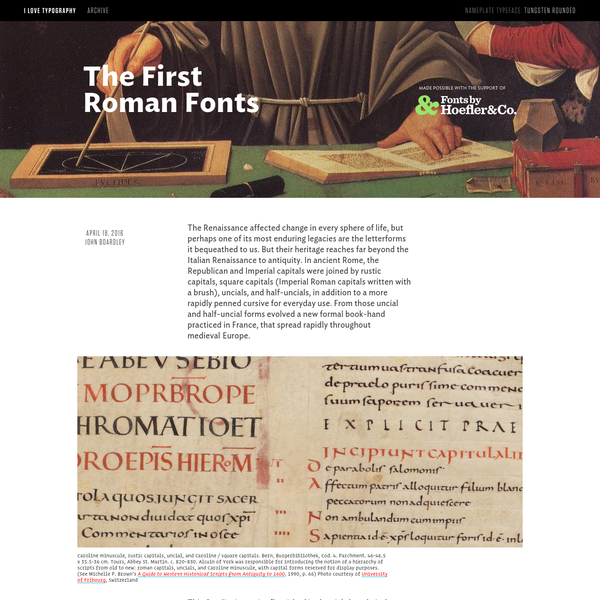 The First Roman Fonts - I Love Typography