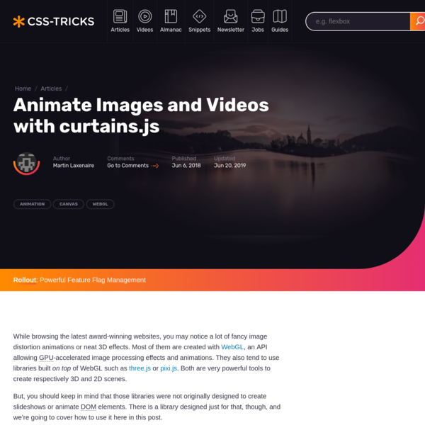 Animate Images and Videos with curtains.js | CSS-Tricks