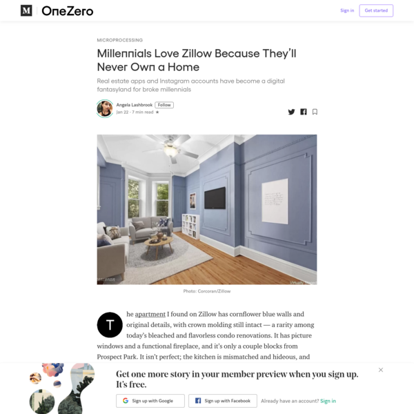Millennials Love Zillow Because They'll Never Own a Home