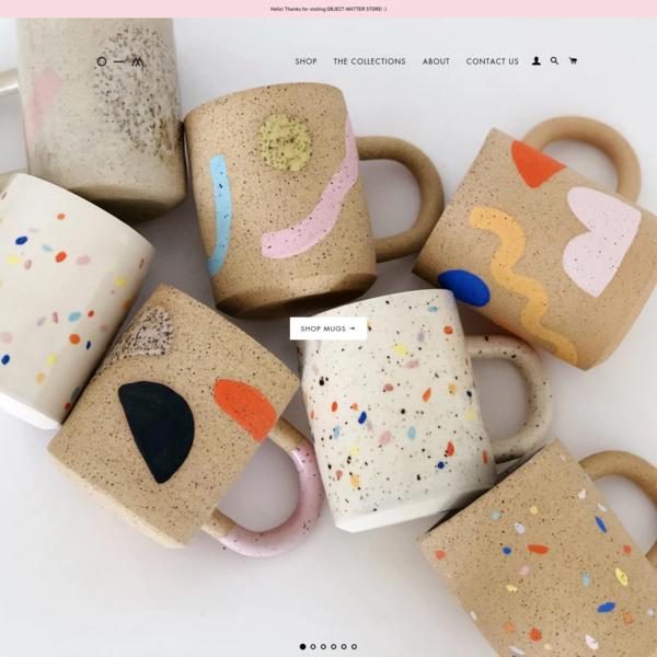 O-M Ceramic   Object-Matter Ceramic