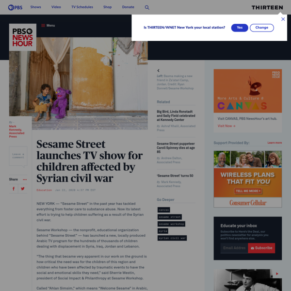 Sesame Street launches TV show for children affected by Syrian civil war | PBS NewsHour