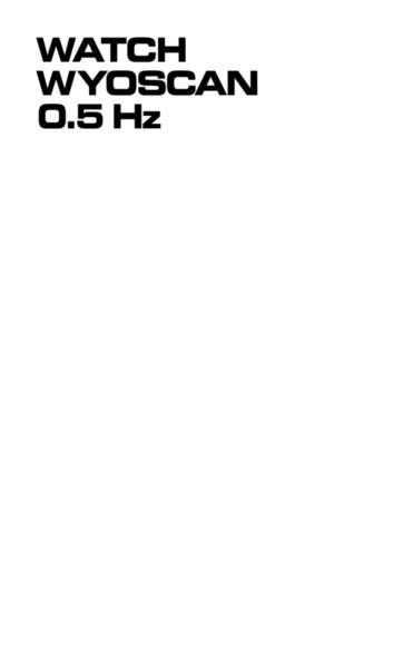 Dexter Sinister - Watch Wyoscan 0.5 HZ