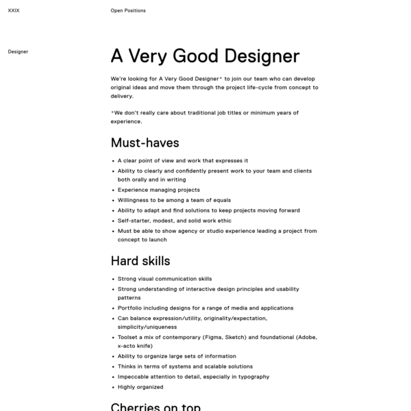 Designer | Open Positions