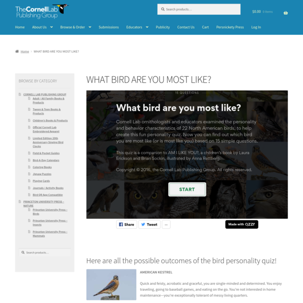 WHAT BIRD ARE YOU MOST LIKE?