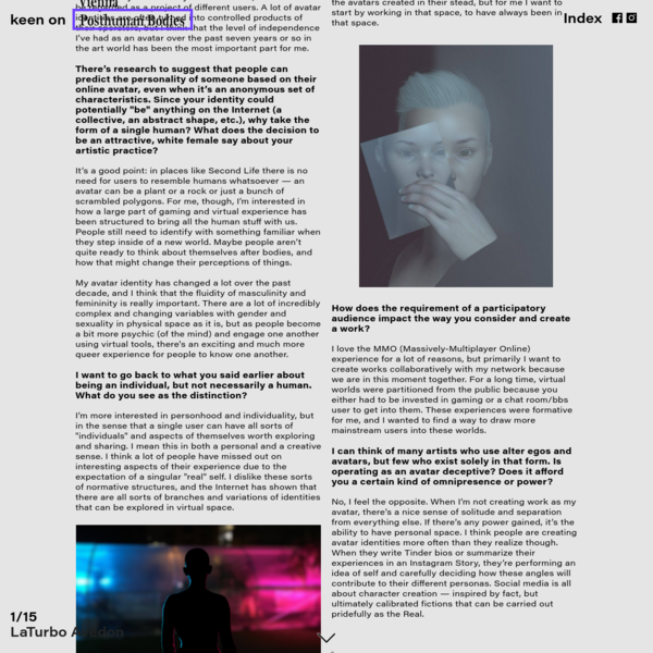 issue n° 5 - keen on posthuman bodies. - Jennifer Mehigan