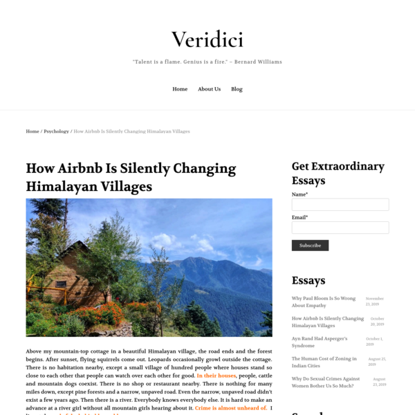 How Airbnb Is Silently Changing Himalayan Villages