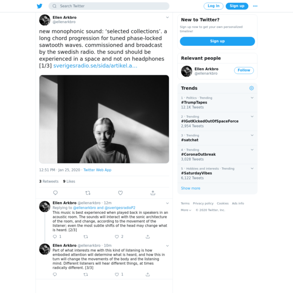 Ellen Arkbro on Twitter