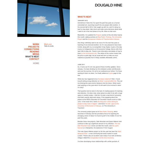 Dougald Hine | Speaking, Writing, Projects