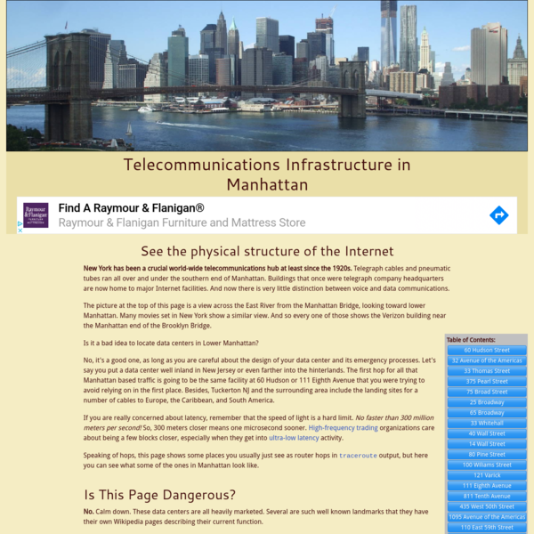 Internet Infrastructure in Manhattan