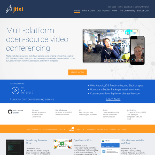 Jitsi.org - develop and deploy full-featured video conferencing