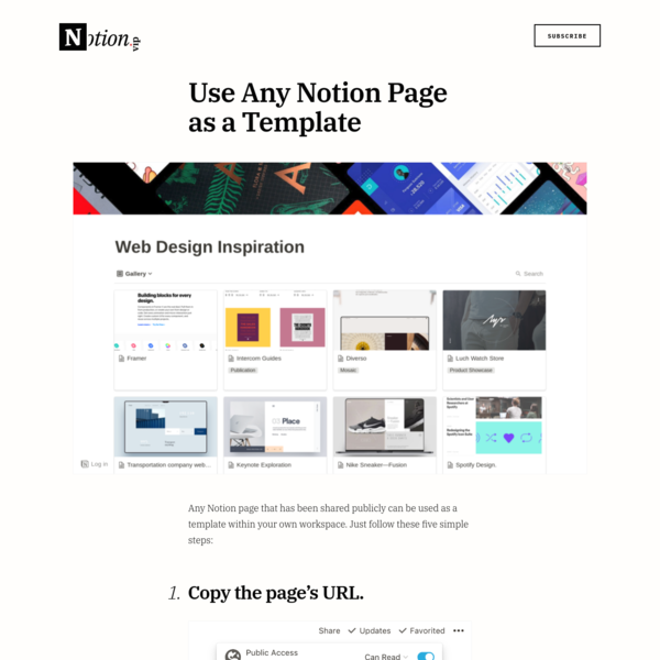 Use Any Notion Page as a Template