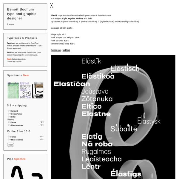 benoît bodhuin - visual research, type design and teaching