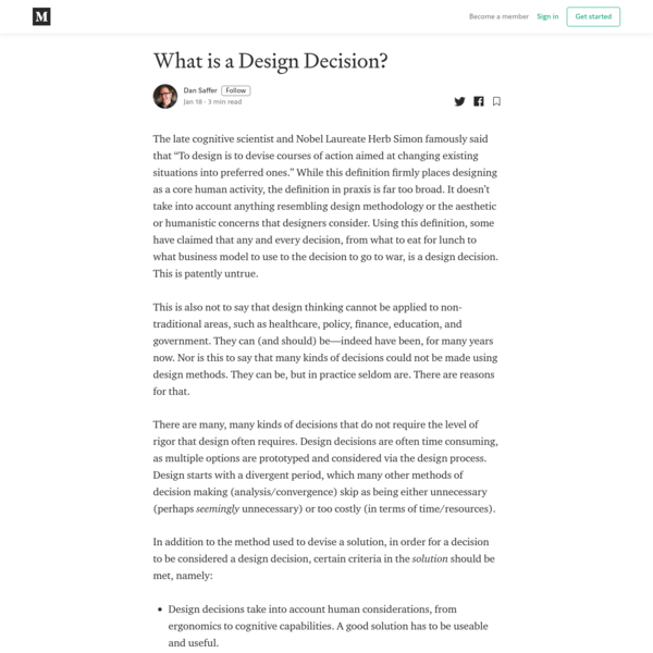 What is a Design Decision?