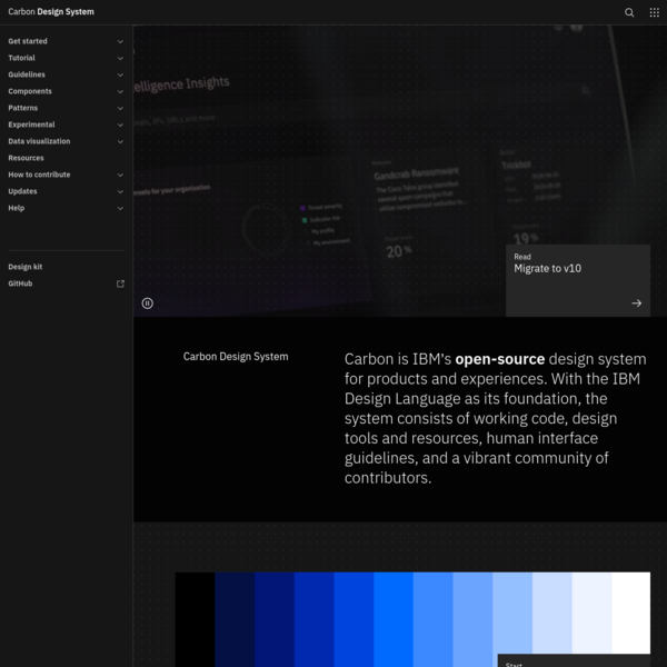Homepage - Carbon Design System